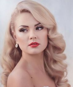 Vintage bryllup frisyrer Side Pin Up 56 trendy ideer Wedding Hair Side, Wedding Hair And Makeup, Hair Makeup, Wedding Hair Blonde, Wedding Hair Styles, Classic Wedding Hair, Trendy Wedding, Makeup Hairstyle, Wedding Hair Curls