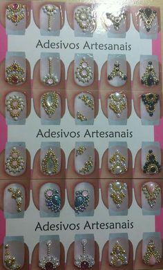 Ongles Bling Bling, Bling Nails, Bling Acrylic Nails, Gel Nail Art, Swarovski Nails, Rhinestone Nails, Diamond Nail Art, Nails Design With Rhinestones, Nail Jewels