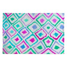 Amy Sia Watercolour Ikat 2 Woven Rug | DENY Designs Home Accessories
