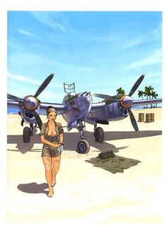 Collection of Aviation Pin Up and Nose Art copyrights belong to their respective owners. These are images I've found publicly accessible while browsing the Internet, unless otherwise stated. Nose Art, Bd Art, Pin Up Girl Vintage, Airplane Art, Ww2 Planes, Bd Comics, Ww2 Aircraft, Aviation Art, Pin Up Art