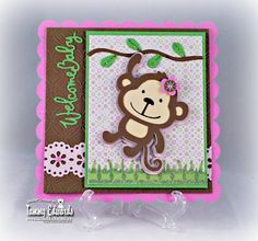 Paper Pastimes of a Scrapbooking Mimi: Create-A-Critter : Welcome Baby monkey card