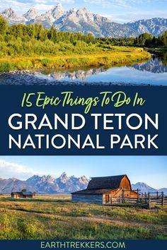 National Parks Usa, Grand Teton National Park, Yellowstone National Park, Cool Places To Visit, Places To Go, Teton Village, Teton Mountains, Best Hikes, Travel Usa