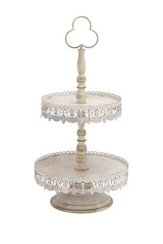 Give your home the rustic look you crave with this gorgeous farmhouse inspired piece. - Color: Brown/White - x x - Imported Tiered Server, Tier Tray, Wood Post, How To Iron Clothes, Silver Trays, Rustic Elegance, Safe Food, Decorative Accessories, 1 Piece