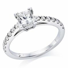 Princess Cut Diamond Solitaire Engagement Ring in White Gold , size 7 . -- Check this awesome jewelry pin : Engagement Ring Engagement Rings Under 1000, Engagement Ring Pictures, Buying An Engagement Ring, Cushion Cut Engagement Ring, Princess Cut Engagement Rings, Beautiful Engagement Rings, Engagement Jewelry, Vintage Engagement Rings, Diamond Engagement Rings