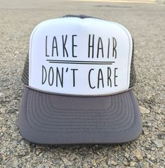 2c858d46e3536 Items similar to Lake Hair Don t Care. Lake Hair Dont Care Hat. Lake Hair  Dont Care. Lake Hair. Lake Hair Hat. Lake Hair Don t Care Hat. Cute Trucker  Hat. ...