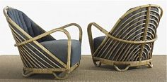 Arne Jacobsen, Rattan and Cane Charlottenborg Lounge Chairs, 1936