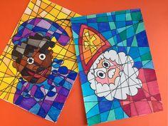 How to draw Sinterklaas and Zwarte Piet - Studio Jocelyn Opposite Colors, Saint Nicholas, Orange Background, Christmas Activities, Elementary Art, Creative Words, Diy For Kids, Paper Art, Saints