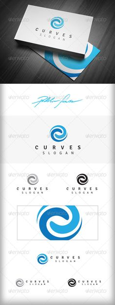 Spiral Logo  Swirl Logo  Synergy Logo  Curves — Vector EPS #connect #connection • Available here → https://graphicriver.net/item/spiral-logo-swirl-logo-synergy-logo-curves/6650297?ref=pxcr