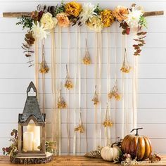Create whimsical fall wall decor for a photo backdrop, a headboard stand-in or a simply gorgeous piece of art!