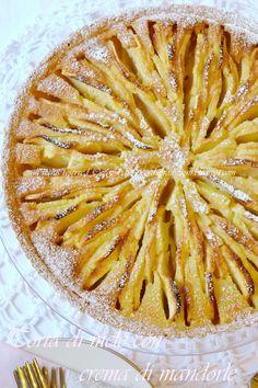 Torta di mele con crema di mandorle