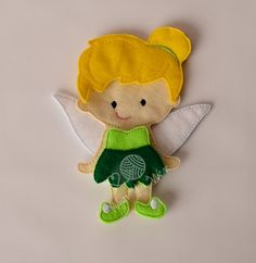 Fairy felt paper doll pretend play quiet play by lovewhatyouwear