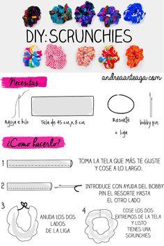 Andrea | ♡♡♡: Formas de llevar una dona para el cabello + DIY | The 90´s Week Scrunchie, scrunchies, DIY: Scrunchie,