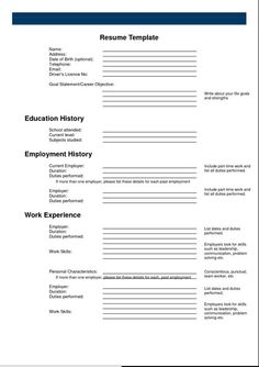 20 best free resume examples images on pinterest cv template