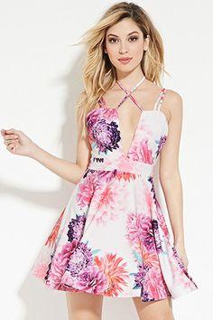 Tiger Mist Floral Fit and Flare Dress   Forever 21 - 2000150035
