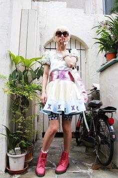 ストリートスナップ [中川 友里] | DELADAMA, Dr.Martens, fleamadonna, SLY | 原宿 | 2012年07月02日 | Fashionsnap.com