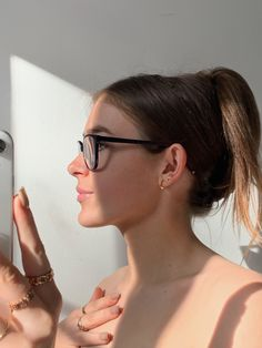 Side Profile, Girls With Glasses