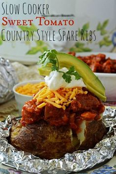 Slow Cooker Sweet Tomato Country Style Spare Ribs