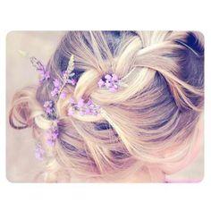 braid + wild flowers