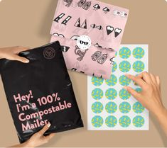 Make your packaging that much more sustainable in 2019 with options like recycled packaging, compostable mailers and eco-friendly tissue paper. Create a plastic-free packaging experience. Printing On Tissue Paper, Custom Tissue Paper, Paper Logo, Sticker Paper, Custom Packaging, Print Packaging, Packaging Design, Branding Design, Envelopes
