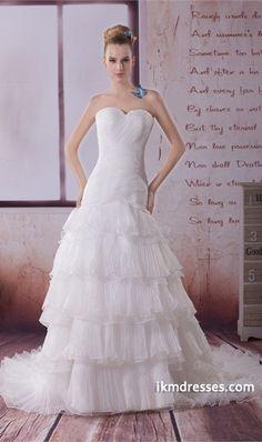 Mermaid/ Trumpet Satin/Organza Sweetheart Court Train Wedding Dress http://www.ikmdresses.com/Mermaid-Trumpet-Satin-Organza-Sweetheart-Court-Train-Wedding-Dress-p19301