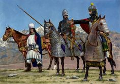 Sassanid heavy cavalry.