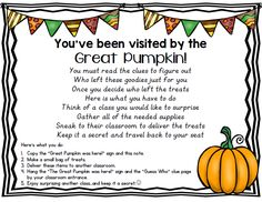 Check out this great FREEBIE! https://www.teacherspayteachers.com/Product/The-Great-Pumpkin-FREEBIE-930079
