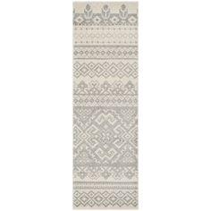 Safavieh Adirondack Southwestern Ivory/ Silver Runner Rug (2' 6 x 12')