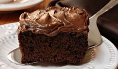 How to prepare Irresistible Chocolate Cake. Melt the chocolate with the butter in a water bath. Chocolate Coca Cola Cake, Chocolate Brownies, Buttermilk Chocolate Cake, Apple Brownies, Box Brownies, Chocolate Muffins, Fudge Cake, Food Cakes, Zucchini Desserts