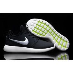 86c9898c1aaa0 Roshe Two Low Leather Shoes Black White Tick on We Heart It