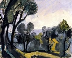 wetreesinart:  Henri Matisse, Paysage aux oliviers, 1918, huile sur toile