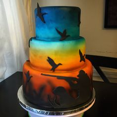 Duck Hunting Cakes, Hunting Birthday Cakes, Dad Birthday Cakes, Birthday Parties, Sports Themed Cakes, Pie Cake, Cakes For Boys, Fondant Cakes, Cake Creations