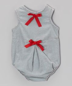 Loving this CyBaby Gray & Red Ribbon Bodysuit - Infant on #zulily! #zulilyfinds