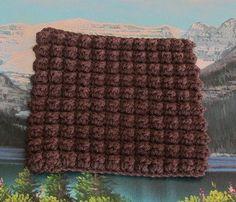 Hand crochet bobble stitch dish cloth 7 by 7.5 by LandLCandlesandCraft on Etsy