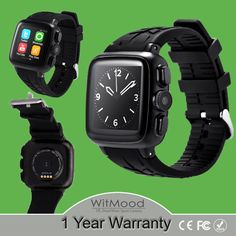 UC08 3G Android Wifi Smart Watch 3.0MP camera Support SIM Card Smartwatch for Apple android smartphone Heart rate monitor