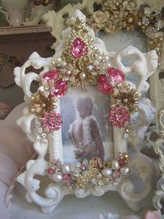 Vintage pink jeweled frame | Flickr - Photo Sharing!