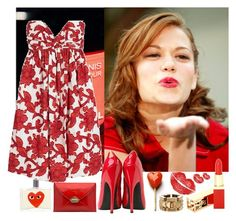 What I Want by thelittleowl on Polyvore featuring Milly, Jimmy Choo, Burberry, Yves Saint Laurent, Comme des Garçons, bethany joy galeotti, haley james scott, like oth and red
