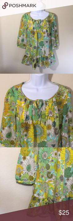 "Liberty of London for Target Floral Ruffle Top XS Brand: Liberty of London for Target  Size: XS  Category: Top  Description: Boho Floral Top, bottom ruffle.  Condition: Like new  Fabric: 100% Polyester  Bust: 36""  Length: 26""  Item #SB659 Liberty of London Tops Blouses"