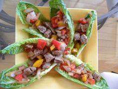 hCG P2 Spicy Steak Fajita Lettuce Tacos