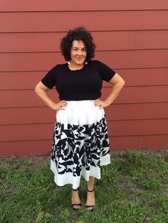 Eloquiint | beauty & the butcher head to toe Eloquii outfit plus size fashion embrace your curves love a midi skirt