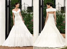 New fashion white or ivory a line off the shoulder lace up wedding dress bridal gown HS110