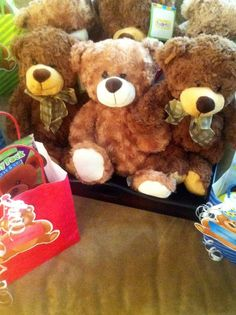 Favors at a Corduroy Teddy Bear Party #corduroy #partyfavors