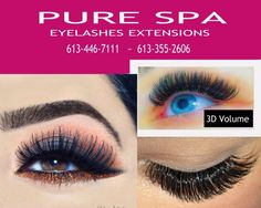 Eyelashes Extension Classic full set 99$ 3D Lashes 120$ - XTREME LASHES Excellent Quality - 9 Years of Experience. For Your Next Appointment call OR TEXT Pure