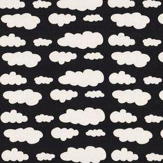 wolken zwart/wit - 15 € per meter