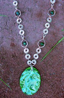Stunning Coiled Wire Chain Necklace | AllFreeJewelryMaking.com