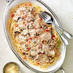 Pork Medallions with Brandy Cream Sauce Recipe -I adapted this easy, elegant main dish from a recipe my mother-in-law cooked for our family. Cayenne lends a bit of heat to its rich, creamy sauce. Brandy Cream Sauce Recipe, Brandy Sauce, Cooking Wine, Fun Cooking, Cooking Recipes, Budget Recipes, Entree Recipes, Pork Recipes, Pork Meals