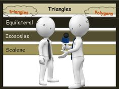Polygons - Triangles animated PowerPoint and Handout