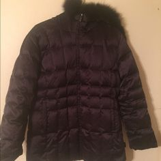 Calvin Klein fox fur trim duck down coat Good condition! Super warm, fox trim in great condition. Calvin Klein Jackets & Coats Puffers