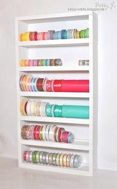 Bettys Crafts: Regal für Bänder und Washi Tape