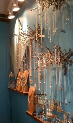 Image result for christmas market jewelry booth #necklacedisplay