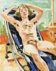 Sandra Fisher Nude in the Studio c.1989 oil on canvas Collection of Max Kitaj (c) Estate of Sandra Fisher